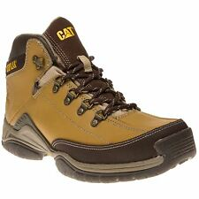 New Mens Caterpillar Natural Tan Collateral Mid Synthetic Boots Work Lace Up DL