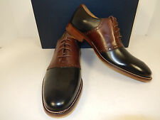 NEW COLE HAAN WILLIAMS SADDLE.II C12664 BLACK W/ DK BROWN LEATHER SADDLE OXFORDS