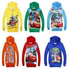 Hot!New Kids Baby Boys Girls Hooded Coat Jacket Jumper Ages 2-8years