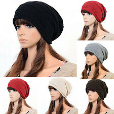 Unisex Winter Plicate Baggy Beanie Knit Crochet Ski Hat Oversized Cap Hat Warm