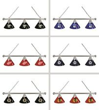 Choose Your NHL Team Chrome Finish 3 Shade Pool Billiard Light by HBS