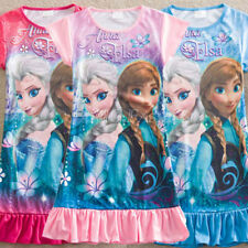 Frozen Princess Elsa Anna Baby Girls Kids Floral Pyjama Nightie Dress Clothes