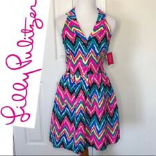 188.00 NWT LILLY PULITZER SHERLYNN DRESS MULTI HEARTS A FLUTTER 00,10,12