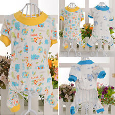 Cotton Pajamas Small Dog Soft Clothes Pet Jumpsuit Cute Shirt Coat Apparel J83