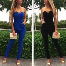 Fashion Neue Women Sexy Bodycon Verband Strapless enge Taille Jumpsuits Hot