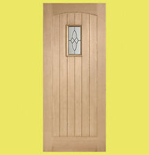 External Oak Triple Glazed Cottage Door with Black Caming. Various Sizes