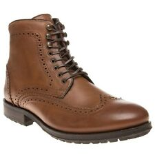 New Mens H by Hudson Tan Brown Hughes Leather Boots Brogue Shoes Lace Up