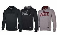 Vans Men's Classic Logo Skateboard Pullover Hoodie-Dark Heather Gray