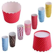 20x Spots Muffin Cupcake Liners Cake Cup Cases Baking Paper Mold Tray Colorful