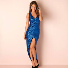 Womens Glamorous Sequin Dress In Blue A Girl Can Never Have Too Many Dresses