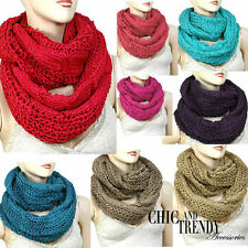 """INFINITY""SUPER CHUNKY CABLE KNIT SCARF,GORGEOUS COLORS/FALL/ WINTER*CHIC TRENDY"