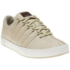 New Mens K-Swiss Brown The Classic II Leather Trainers Lace Up