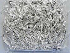 wholesale lots 30pcs S925 silver P snake Chain Bead Fit European Bracelet FREE