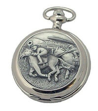 HORSE RACE FRONT SKELETON HUNTER POCKET WATCH A Williams Racing Riding Gift NEW