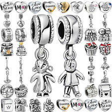 Family&Friend Love Theme Charms Bead For 925 lot sterling silver Bracelet Bangle