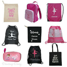 Girls Pink Ballet Bag Dance Bags Backpack Drawstring Lots Designs