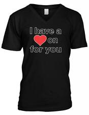 I Have A Heart On For You Valentines Day Love Funny Humor Mens V-neck T-shirt