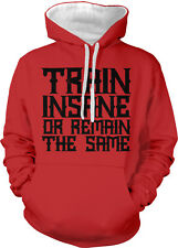 Train Insane or Remain The Same WOD Weight Lifting 2-tone Hoodie Pullover