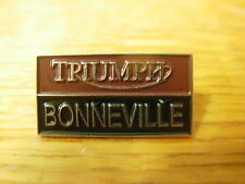 Triumph Bonneville rectangular motorcycle pin badge. British motorcycle