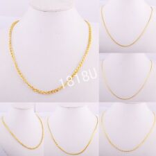 Vintage Thin 14k Gold Filled Necklace Chain Wedding Womens/Mens Jewelry Party