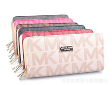 Lady Fashion double zipper letter Card Case Wallet Clutch Purse Handbag 6color