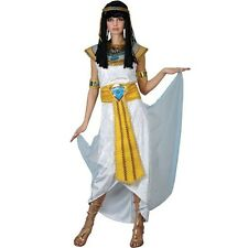 Ladies Fancy Dress Cleopatra Princess Egyptian Adult Outfit Long White Costumes