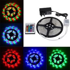 12V LED STRIP LIGHT 3528RGB SMD 300LEDS 5M 10M Flexible Strip Light+Remote+Power