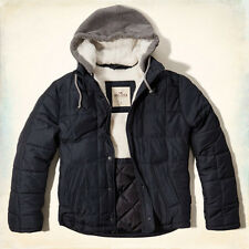 Hollister By Abercrombie Mens Coronoda Island Removable Hood Puffer Jacket