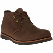 New Mens Timberland Brown Rugged Leather Chukka Boots Work Lace Up