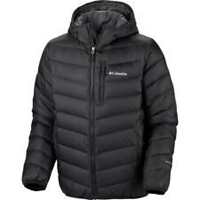 New Columbia mens Omni Heat Down hooded winter ski snow jacket parka Black
