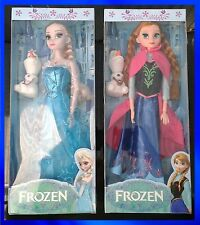 """Frozen Theme Elsa & Anna Dolls Singing """"Let It Go"""" with Olaf Toy Christmas Gift"""