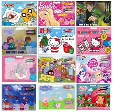 Kids Character ARTIST PADS with Crayons & Stickers (Creative/Gift/Xmas)ALLIGATOR