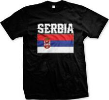 Serbia Text Flag Serbian Pride Republika Srbija Mens T-shirt