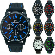 Men's Classic Analog Silicone Stainless Steel Quartz Hours Sports Wrist Watch