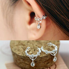 New Punk Fashion Ear Cuff Wrap Rhinestone Cartilage Clip On Earring Non Piercing