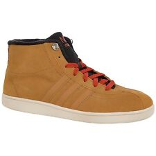 adidas NEO Mens Court Mid Suede High Tops Shoes Trainers - Wheat