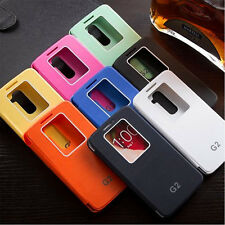 Latest Luxury Quick Window View Flip Case Cover for LG Optimus G2 D802 New