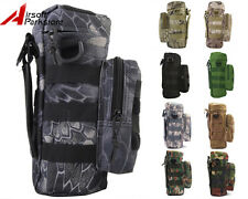 Tactical Military Camping Hiking Camo Molle Zipper Water Bottle Pouch Bag Holder