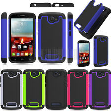 Rugged Hybrid Armor Hard Impact Case Cover For Alcatel One Touch Pop Icon 7040T