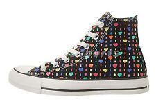 Converse Chuck Taylor All Star HI Black Heart Multi Color Womens Shoes 537115C