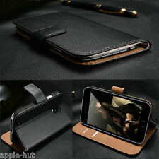 Real Genuine Leather Flip Wallet Slim Case Cover For New Apple iPhone 6 & 6 Plus