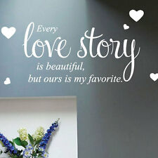 Every Love Story Wall Quote Sticker Wall Decals Words Letterings