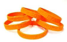 Orange IMPERFECT Bracelets Lot of 6 Pieces Silicone Wristband Cancer Cause New