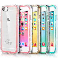ULAK® Ultra Thin Clear Crystal Rubber Hybrid Bumper Case Cover For iPhone 6 4.7""