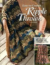 Easy-to-Crochet Ripple Throws Afghans ~ 6 Colorful Afghans crochet patterns