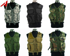 Tactical Military Airsoft Paintball Outdoor Combat Vest with Pistol Gun Holster