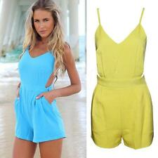 Sexy Top Cross Straps Backless Jumpsuit Sexy Women Bodysuits Rompers Overalls
