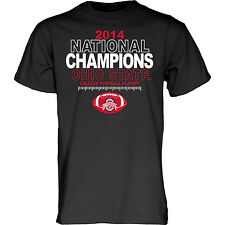Ohio State Buckeyes 2015 College Football National Champions Black T-Shirt