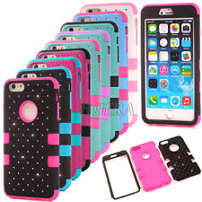 Bling Diamond High Impact Shockproof Hard Matte Cover Case for iPhone 6 6S Plus
