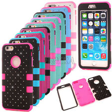 New Bling Diamond High Impact Shockproof Hard Matte Cover Case for iPhone Series